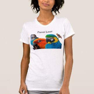 T-shirt d'amant de perroquet