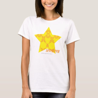 T-shirt Damassé 3 jaune-orange