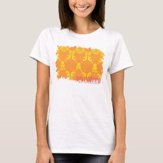 T-shirt Damassé 4 jaune-orange