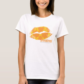 T-shirt Damassé jaune-orange