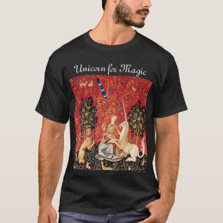 T-shirt DAME ET LICORNE POUR les fleurs MAGIQUES