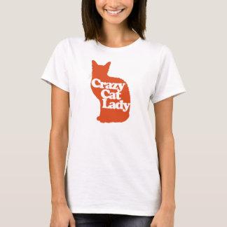 T-shirt Dame folle de chat
