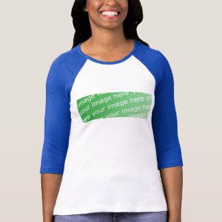 T-shirt Dames 3/4 raglan de douille adapté