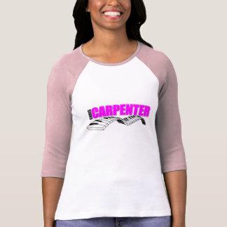 T-shirt Dames 3/4 raglan de douille (adapté), blanc/rose