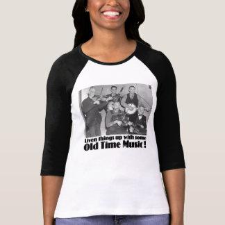 T-shirt Dames anciennes de musique 3/4 raglan de douille