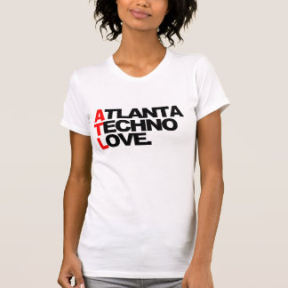 T-shirt Dames d'amour de techno d'Atlanta (blanches)