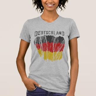 T-shirt Dames de chemise de drapeau du Deutschland