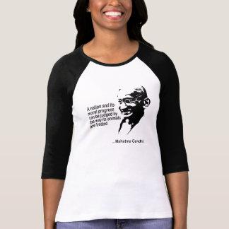T-shirt Dames de droits des animaux de Mahatma Gandhi