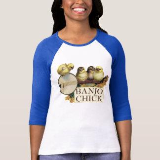 T-shirt Dames de poussin de banjo 3/4 raglan de douille