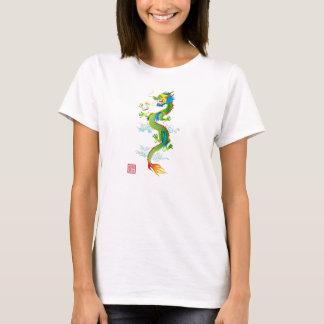 T-shirt Dames T de dragon et de perle