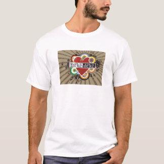 T-shirt dames T du coeur mimi