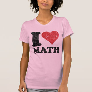 T-shirt Dames Twofer de maths d'amour du cru I pur
