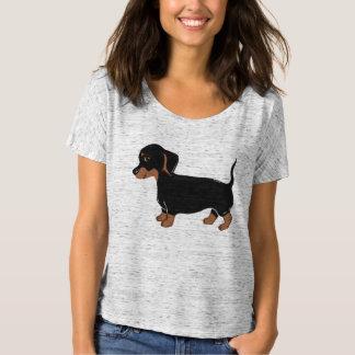 T-shirt d'ami de Bella des femmes de teckel