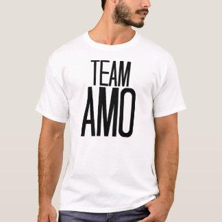 T-shirt d'AMO d'équipe dans le blanc
