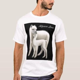 T-shirt d'amour d'alpaga