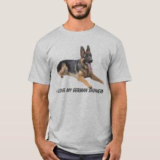 T-shirt d'amour de berger allemand