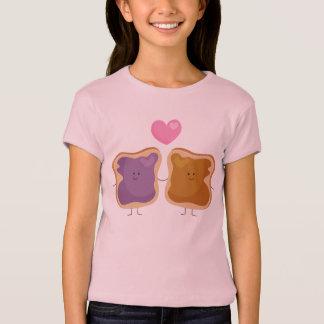 T-shirt d'amour de beurre et de gelée d'arachide