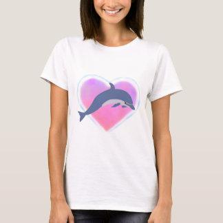 T-shirt d'amour de dauphin