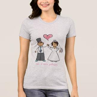 T-shirt d'amour de M. et de Mme Cute Cartoon