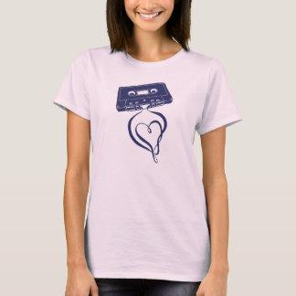 T-shirt d'amour de Mixtape de vieille école