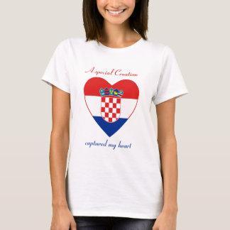 T-shirt d'amoureux de drapeau de la Croatie