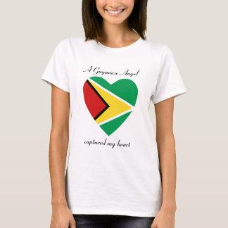 T-shirt d'amoureux de drapeau de la Guyane