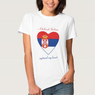 T-shirt d'amoureux de drapeau de la Serbie