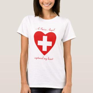 T-shirt d'amoureux de drapeau de la Suisse