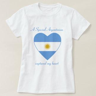 T-shirt d'amoureux de drapeau de l'Argentine