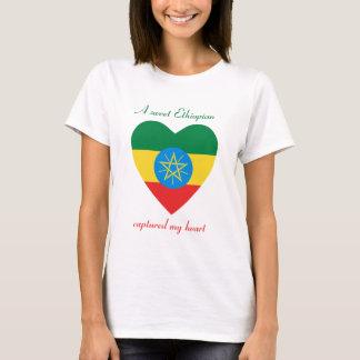 T-shirt d'amoureux de drapeau de l'Ethiopie
