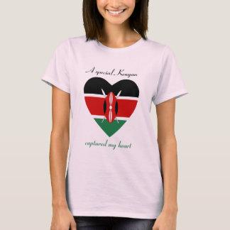 T-shirt d'amoureux de drapeau du Kenya
