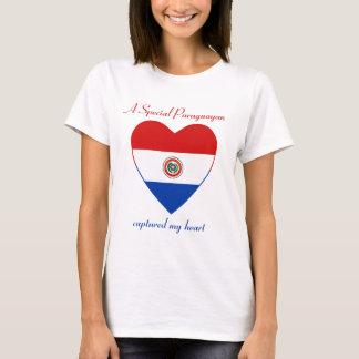 T-shirt d'amoureux de drapeau du Paraguay