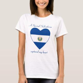 T-shirt d'amoureux de drapeau du Salvador
