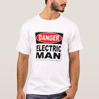 T-shirt Danger d'homme électrique