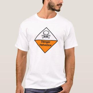 T-shirt Danger helvetica
