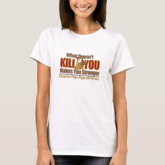 T-shirt dangereux de carlin