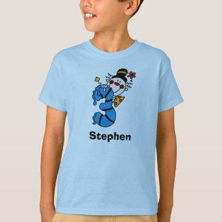 T-shirt d'anniversaire de clown bleu troisième