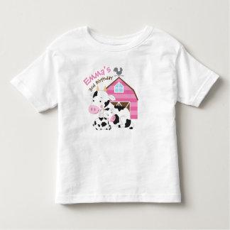 T-shirt d'anniversaire de fille de ferme