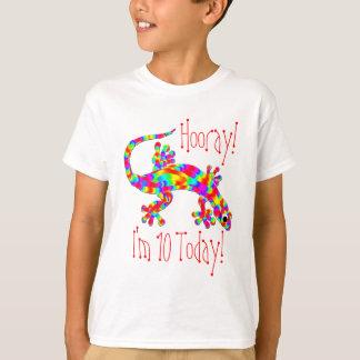 T-shirt d'anniversaire de salamandre d'arc-en-ciel