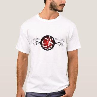 T-shirt Dans la médaille et la vigne de mouvement
