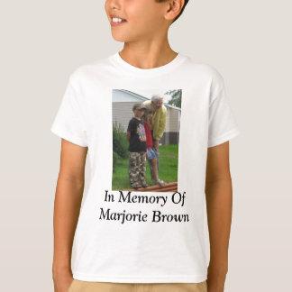 T-shirt Dans la mémoire de Marjorie Brown
