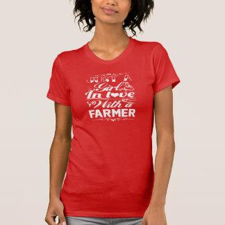 T-shirt Dans l'amour avec un agriculteur