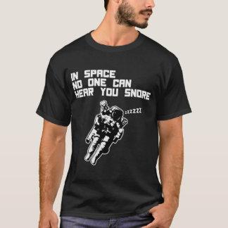 T-shirt Dans l'espace personne peut vous entendre ronfler