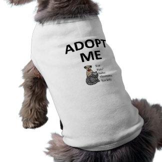 """T-shirt Dans l'intéret des animaux familiers """"adoptez-moi"""""""