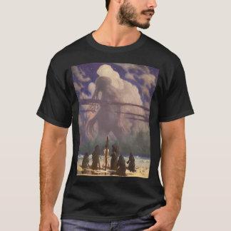 T-shirt Dans sa maison chez R'lyeh, Cthulhu mort attend le