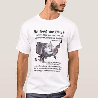 T-shirt DANS un DIEU NOUS FAISONS CONFIANCE - à 2 7h14 de
