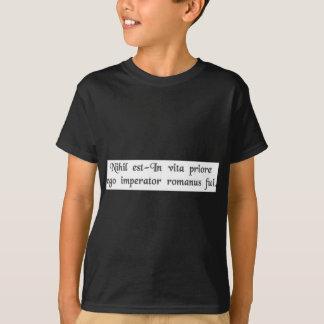 T-shirt Dans une vie précédente j'étais un empereur romain