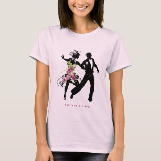 T-shirt Danse de salon de couples de silhouette