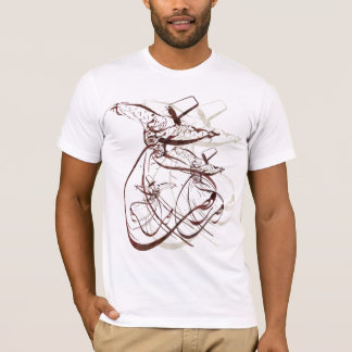T-shirt Danse de tourbillonnement de Nastaleeq Sufi