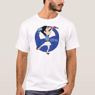 T-shirt Danse d'Evzone de Grec avec le drapeau OPA !